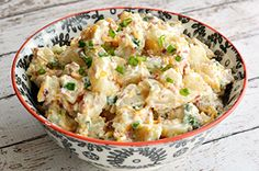 Creamy Bacon Cheddar Loaded Baked Potato Salad