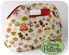 dewdrop bag sewing pattern by PearForTheTeacher