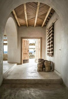 an amazing place to spend holidays in Mykonos, Scorpios in a huge beach property. - Home Decoran incredible place to spend holidays in Mykonos, Scorpios in an enormous seaside property the place ornament was created by the craftsmen round in a . Scorpios Mykonos, Interior Architecture, Interior And Exterior, Stone Interior, Rustic Interior Doors, Bohemian Apartment, Bohemian Interior, Ibiza Style Interior, Bohemian Hotel