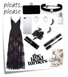 """""""Knock em dead"""" by civituslevi ❤ liked on Polyvore featuring Post-It, BCBGMAXAZRIA, Miss KG, Swarovski, Kenneth Jay Lane, Eloquii, Bobbi Brown Cosmetics, Christian Dior, Couture Colour and Violet Voss"""
