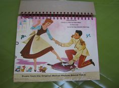 Cinderella Record Cover Upcycled Sketch/Notebook Spiral Bound