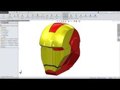 in this tutorial video i will show you how to sketch each and every part of iron man mask helmet & How to make Assembly in Solidworks dont forget to hit like. Solidworks Tutorial, Cad Programs, Mechanical Engineering, Autocad, Iron Man, Surface, Drawings, Illustration, Design