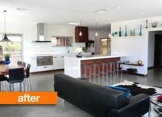 1980's Australian home renovated! Click the link to see the before. Such an amazing transformation!