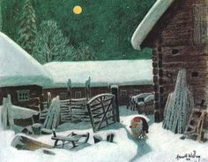 """Harald (or Harold) Wiberg (1908-1986) - illustration from """"The Tomten"""" - love this book"""