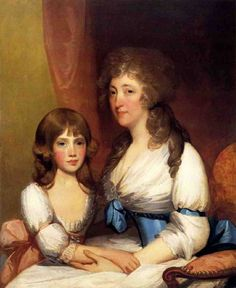 Mrs. Dick And Daughter Charlotte Anna by Gilbert Stuart