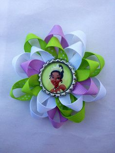 Princess Tiana. Princess and the Frog bottle cap by sweetlilbows, $5.00