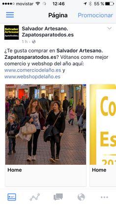 ¿Te gusta comprar en Salvador Artesano. Zapatosparatodos.es? Vótanos como mejor comercio y webshop del año aquí: www.comerciodelaño.es y www.webshopdelaño.es