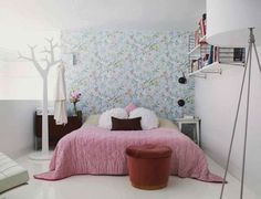 40 Cute Bedroom Ideas: 40 Cute Bedroom Ideas With Pink Bed And Red Chair Design