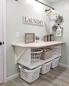 farmhouse laundry room is usually the most messiest room at your home. Admit it, farmhouse laundry room is usually the most messiest room at your home. 86 Brilliant Laundry Room Ideas for Small Spaces Laundry Room Drying Rack, Laundry Room Organization, Laundry Room Design, Organization Ideas, Laundry Room Baskets, Laundry Basket Storage, Laundry Room Colors, Ikea Utility Room Storage, Laundry Room And Pantry