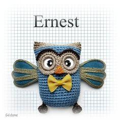 Ernest / owl crochet http://gedane.over-blog.com