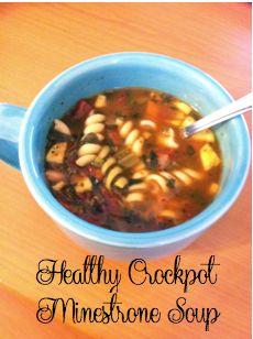 Crockpot Minestrone Soup | Let's Rejoice Always.