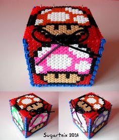 Caja cubo de Mario Bros. Si te gusta puedes adquirirla en nuestra tienda on-line: http://www.sugarshop.eu