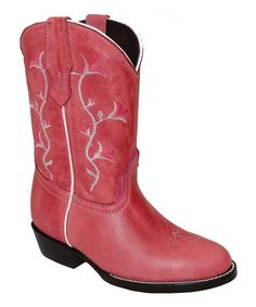 Another great find on #zulily! Pink Flower Embroidered Western Boot by Pecos Bill #zulilyfinds