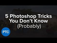 5 Photoshop Tricks You Don't Know - Pt. 3 - Photoshop Tips & Tricks - YouTube