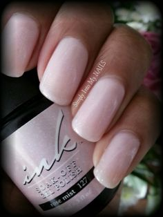 "Ink ""Rose Mist #127"" Love this color! Wish I could get this kind of coverage over pink/white French!"