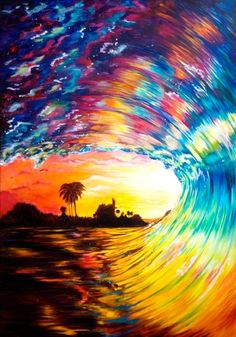 Waves, Painting, Outdoor, Beach, Outdoors, Painting Art, Paintings, Ocean Waves, Outdoor Games