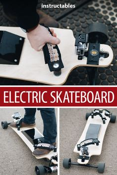 Learn about making an electric skateboard that can go up to 30mph. #Instructables #outdoors #outside #motor #longboard #motorcontroller Diy Electric Skateboard, Motorized Skateboard, Buy Skateboard, Electric Scooter, Electric Cars, Longboard Decks, New Project Ideas, Balance Board, Cool Inventions