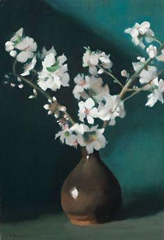 Clarice Beckett (Australian, 1887 - 1935): Almond Blossom (via Sotheby's)