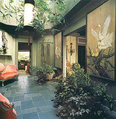 Actress Jean Arthur's house in Carmel California, 1976.