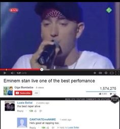 Took me a solid 2 mins to figure out which pixel was eminem Funny Youtube Comments, Eminem Funny, When Youre Feeling Down, Best Rapper, Funny Pictures, Funny Pics, Funny Stuff, Try Not To Laugh, Puns