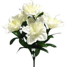72 Artificial Silk Daffodil Wedding Flower Bush Vase Centerpiece Decor - Ivory