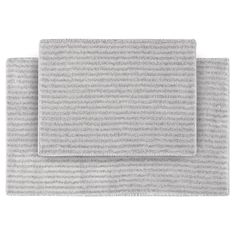 """Finish off a great bathroom design by adding a set of soft bath mats. The Garland 2 Piece Sheridan Plush Washable Nylon Bath Rug Set has a subtle stripe pattern and is available in a range of colors that are easy to match to any decor. The set contains one 17x24"""" bathroom rug and one 21x34"""" bathroom rug."""