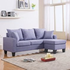 Zipcode Design Janna Reversible Chaise Sectional Upholstery Flint Gray : kara chaise sectional - Sectionals, Sofas & Couches