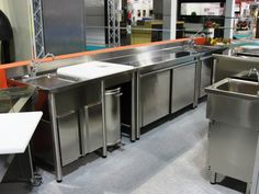 HOST 2013 - Stainless steel neutral sink unit and cupboard table - Made in Italy - Bendoni Inox