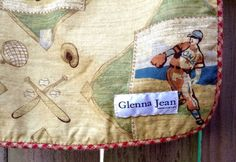 "Glenna Jean Boys Baby Blanket Luxury Old Fashion Baseball 32""x39"" #GlennaJean"