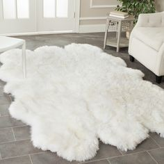 faux sheepskin rug costco Archives - Rugs Model and Style White Fluffy Rug, White Fur Rug, Fur Carpet, Plush Carpet, Grey Carpet, Ikea Sheepskin Rug, Animal Skin Rug, Faux Fur Area Rug, Big Rugs