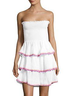 PITUSA Samba Strapless Ruffled Dress Was  195.00 58a824d8a