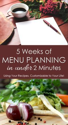 Plan 5 weeks worth of meals in under 2 minutes! Oh man, this tool is super easy to use and FREE! I love it!!