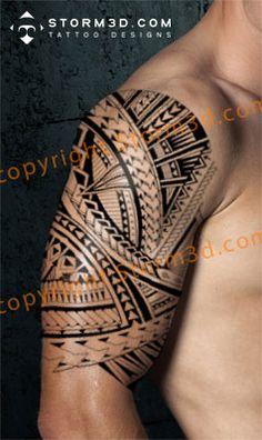 digital mockup tribal samoan tattoo how to design