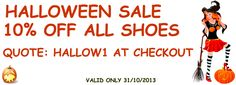 Happy Halloween, visit us today and receive 10% off all orders. www.shoesdays.co.uk