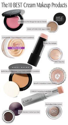 10 Beste Creme-Make-up-Produkte Pinner bellashoot Prom Makeup Looks, Fall Makeup Looks, Love Makeup, Makeup Tips, Makeup Products, Beauty Products, 80s Makeup, Makeup Stuff, Makeup Brands