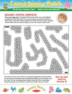 Way to go campers! Print out your Camp Sunny Patch Session 4 badge and bonus activity! CampSunnyPatch
