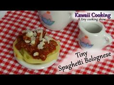 Tiny Spaghetti Bolognese (Edible) - Kawaii Cooking - a tiny cooking show