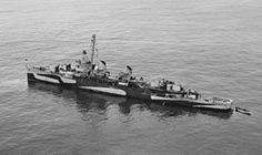 USS William D. Porter (DD-579) Sunk after being hit by kamikaze aircraft off Okinawa 10 June 1945.
