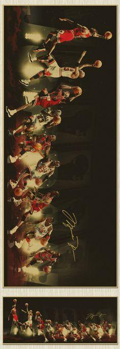 TOP COOL -110 CM LONG Vintage retro Michael Jordan poster art- HOME bar coffee house TOP Decor ART painting -- special offer