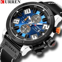 66171dfd889de Mens Relógios de luxo de Moda Chronograph Quartz Digital Relógio de Pulso  CURREN Relógio com Pulseira