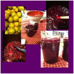 Blueberry lime jam....