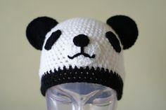 Cartoon Panda  Handmade Crocheted Children by MotivesAndPatterns, $12.99