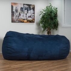 Christopher Knight Home Larson Faux Suede 8-foot Lounge Beanbag Chair - 15084918 - Overstock - Big Discounts on Christopher Knight Home Bean & Lounge Bags - Mobile