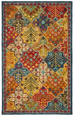Rug - Aspen Area Rugs by Safavieh Casual Home Decor, Rustic Chic Decor, Textiles, Rug Texture, Hand Tufted Rugs, Modern Carpet, Native Art, Carpet Runner, Colorful Rugs