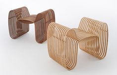 bow tie chair for your home too! One man army- designer Scott Lin of the Taiwanese Gridesign Studio has created this fancy looking low tech 'bow tie chair' Modular Furniture, Wicker Furniture, Modern Furniture, Furniture Design, Building Furniture, Fine Furniture, Furniture Inspiration, Design Inspiration, Design Ideas