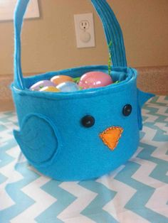 Made by Me. Shared with you.: Tutorial: DIY Felt Easter Baskets..These baskets are inexpensive, even if you have to go and purchase the materials. Clip your Joann's coupons, and go grab some felt by the yard, you'll only need 1/3 of a yard for each. Don't forget to save a coupon to buy a bit of pelted interfacing. Materials: -1/3 yard of felt (the color is all your choice) -1/3 yard of pelted (or use an extra layer of felt to every part of the basket)