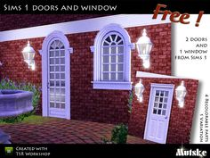 Set with 3 Sims1 building objects. 2 Doors and 1 window.  Found in TSR Category 'Sims 3 Downloads'