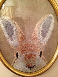 Este coelho bordado não ficou lindo?! ;-)