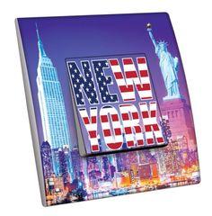 Interrupteur décoré Villes - Voyages / New York 3 simple - Decorupteur
