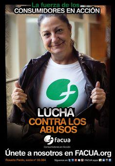 Rosario Pardo, socia de FACUA nº 33.384, llama a los consumidores a la lucha contra los abusos